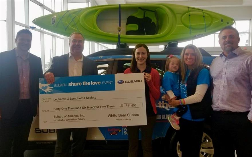 White Bear Subaru donates $41,653 to LLS Minnesota