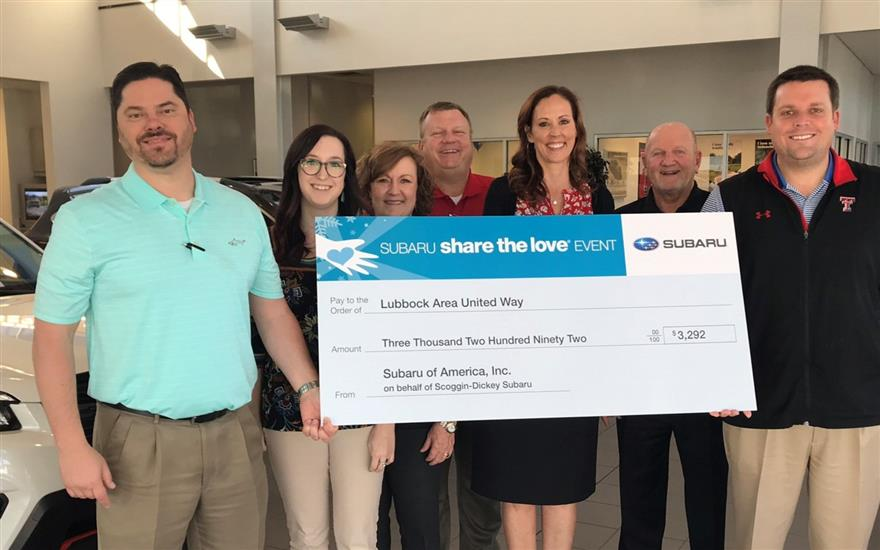 Scoggin-Dickey Subaru's Commitment to United Way