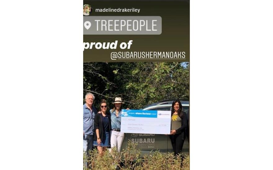 Subaru Sherman Oaks loves @treepeople