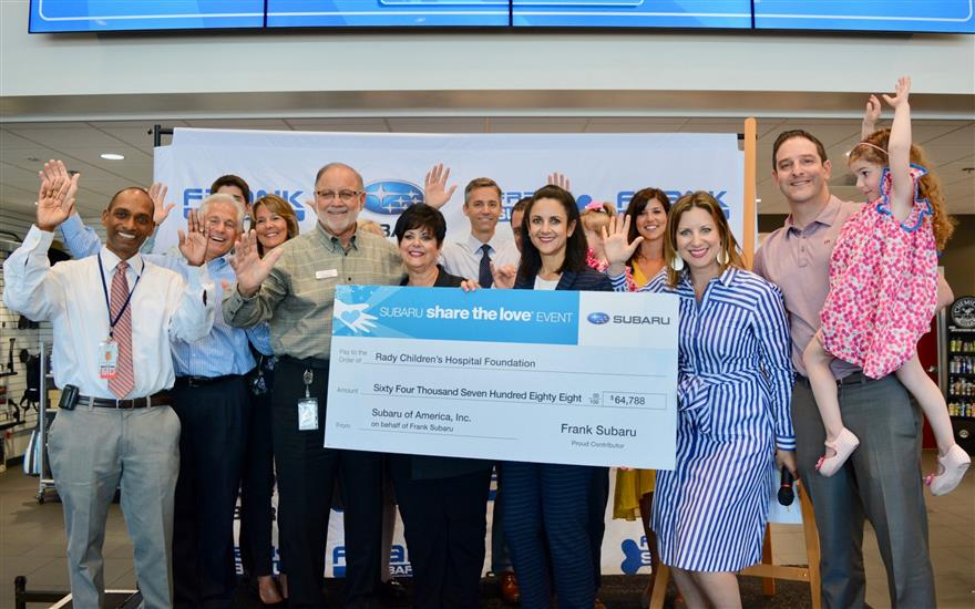 Frank Subaru Shares the love with hometown charity