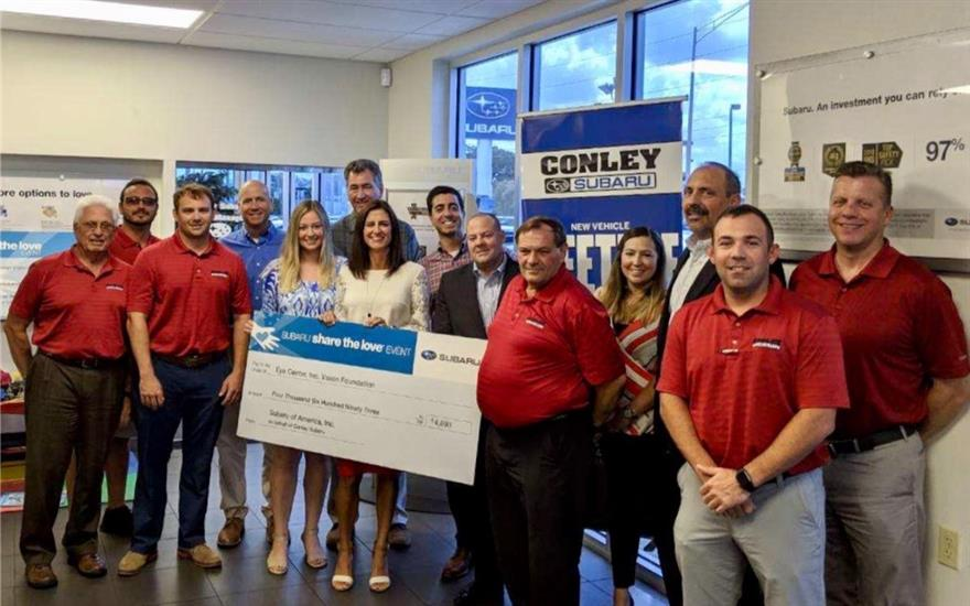 Conley Subaru helps Eye Center Vision Foundation