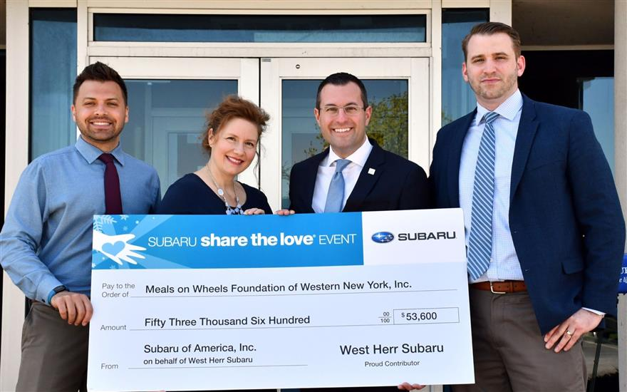 West Herr Subaru Shares the Love with FeedMore WNY