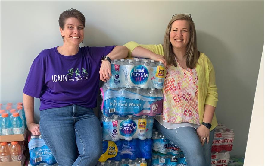 Race Away From Domestic Violence Water Donation