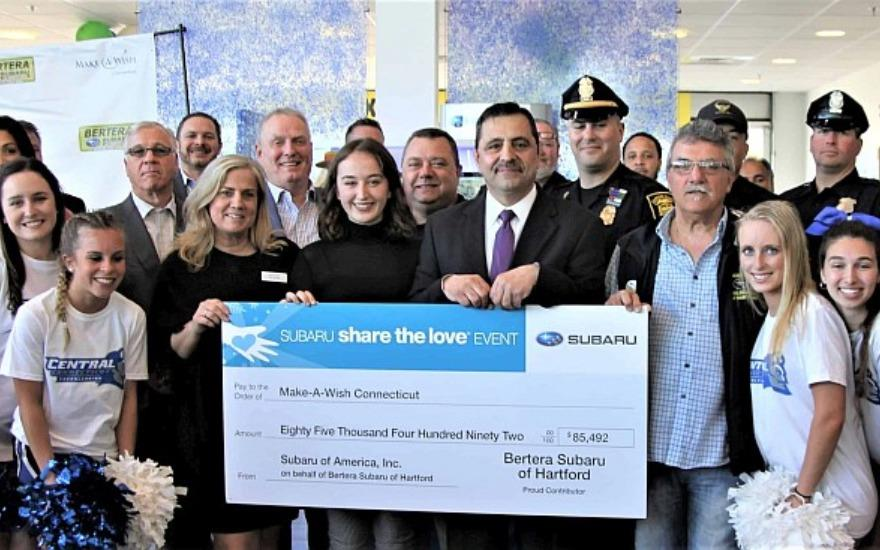 Bertera Subaru and Make-A-Wish Connecticut