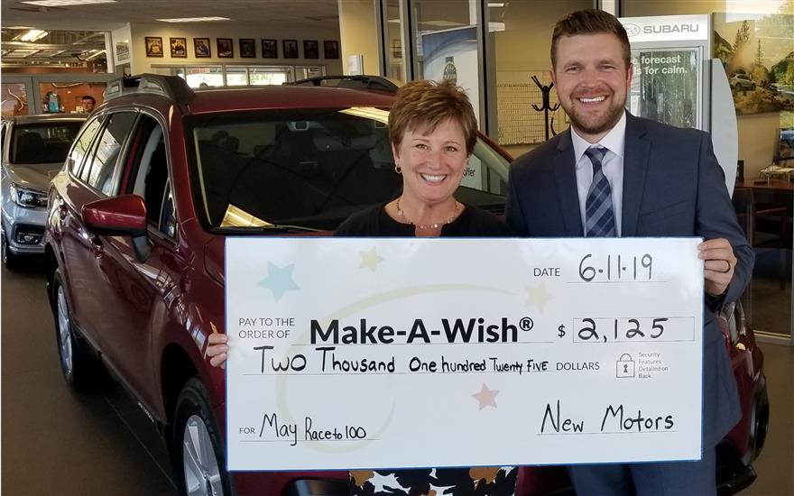 New Motors Drives Donations for Wishes