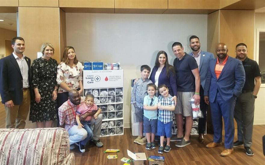 Blanket delivery w/ LLS & Ronald McDonald House
