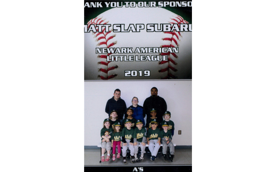 Matt Slap Sponsors Newark American Little League