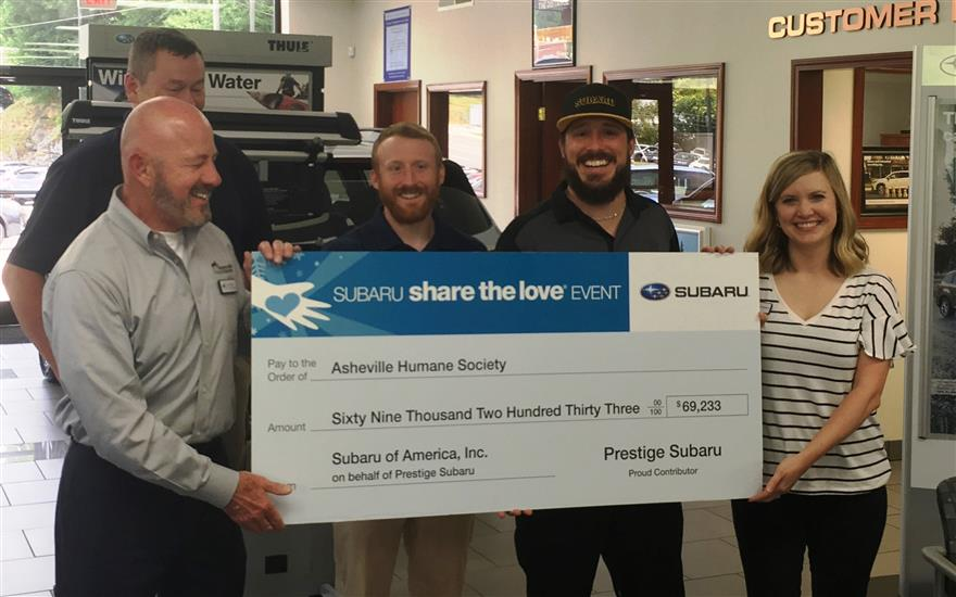 Prestige Subaru Supports Pets in Need