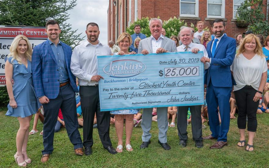Jenkins Donates $25,000 to Stockert Youth Center