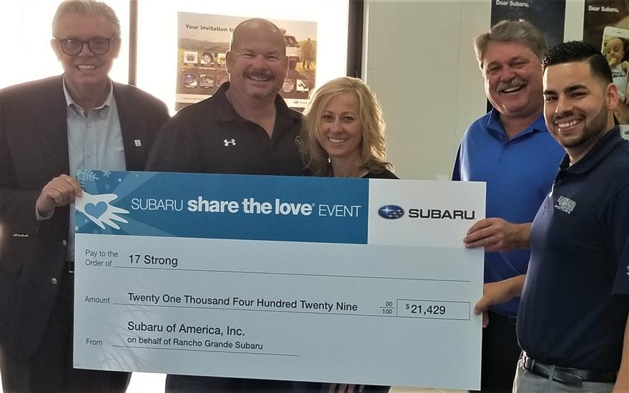 SUBARU SHARE THE LOVE EVENT and 17 STRONG