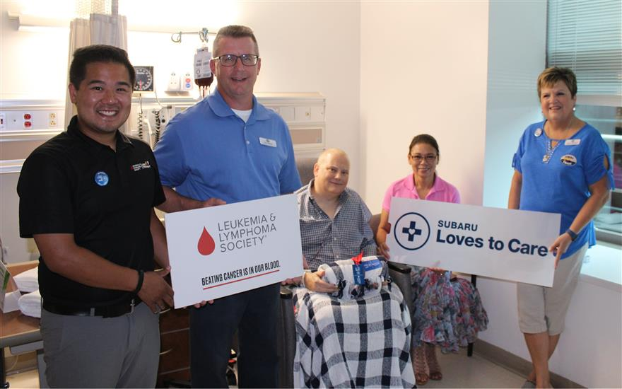 Subaru & LLS Deliver Blankets for Cancer Patients