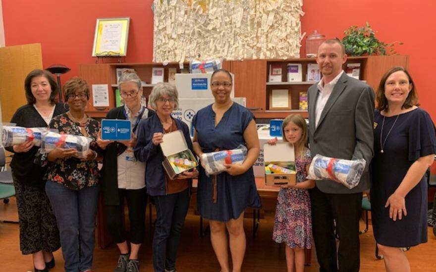 Heritage & LLS Deliver Warmth to Cancer Patients