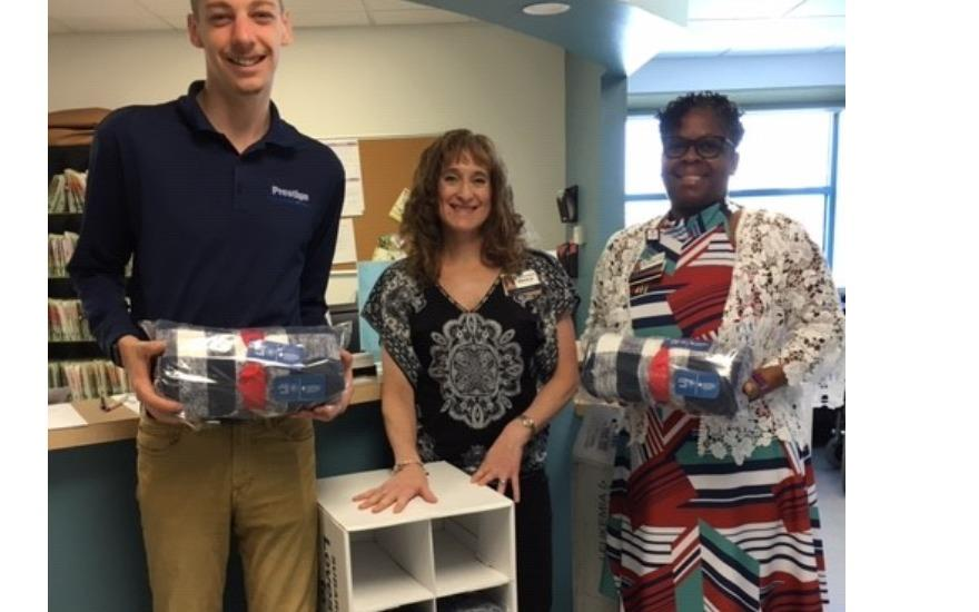 Prestige Delivers Warmth/Hope to Cancer Patients