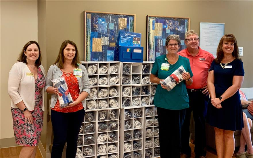 Buchanan Delivers Warmth to Cancer Patients