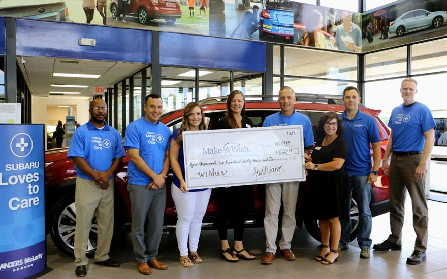 Subaru helps grant wishes to local children!
