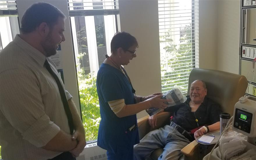 Walker's Renton Provides Comfort to Patients