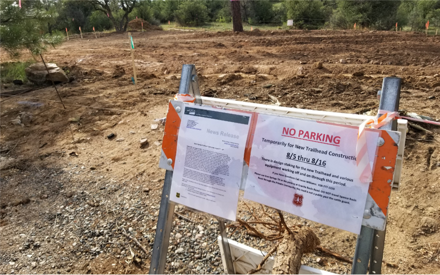 Spence Springs Trailhead Construction