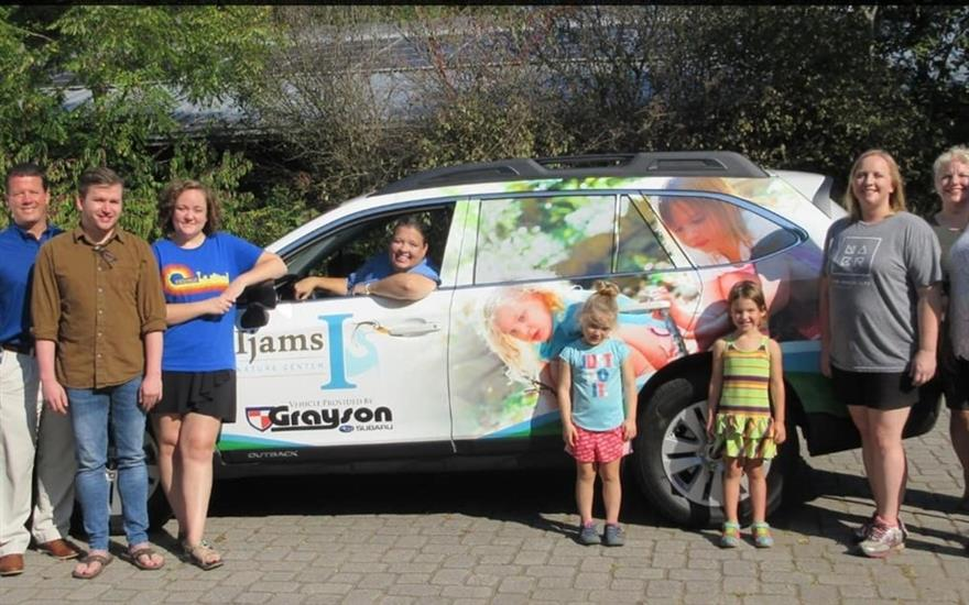 Grayson Subaru Presents 2019 Outback to Ijams