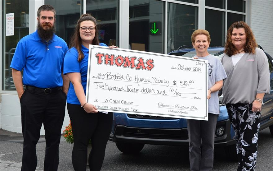 THOMAS SUBARU BEDFORD HOST PET ADOPTION EVENT