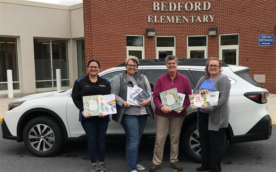Thomas Subaru Bedford Donates Science Books