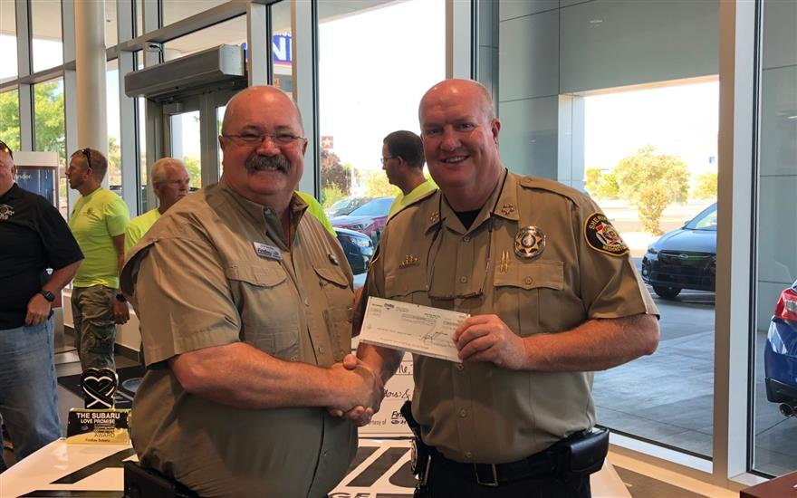 Findlay Subaru Donates Over $95K to Sheriff's Dept
