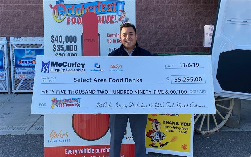 McCurley Helps Raise $55k for Local Food Banks