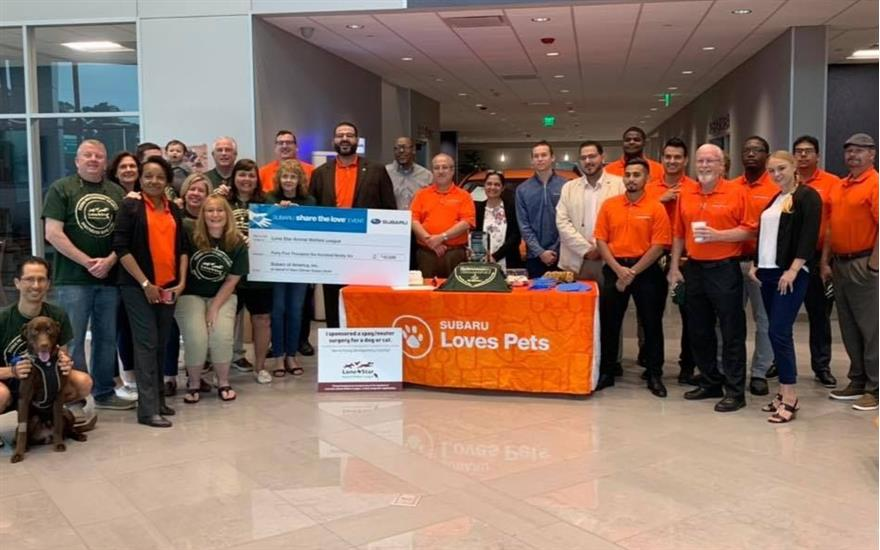 Lone Star Animal Welfare League Receives Donation!