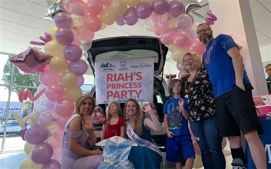 Riah's Wish Reveal Party at Subaru of Portland