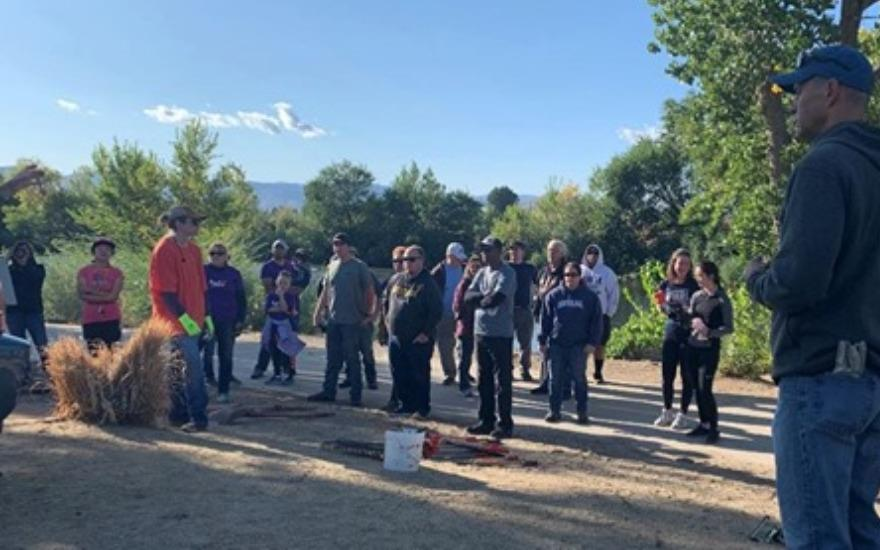 Truckee River clean up party