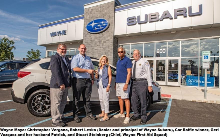 Thank you Wayne Subaru for helping our community
