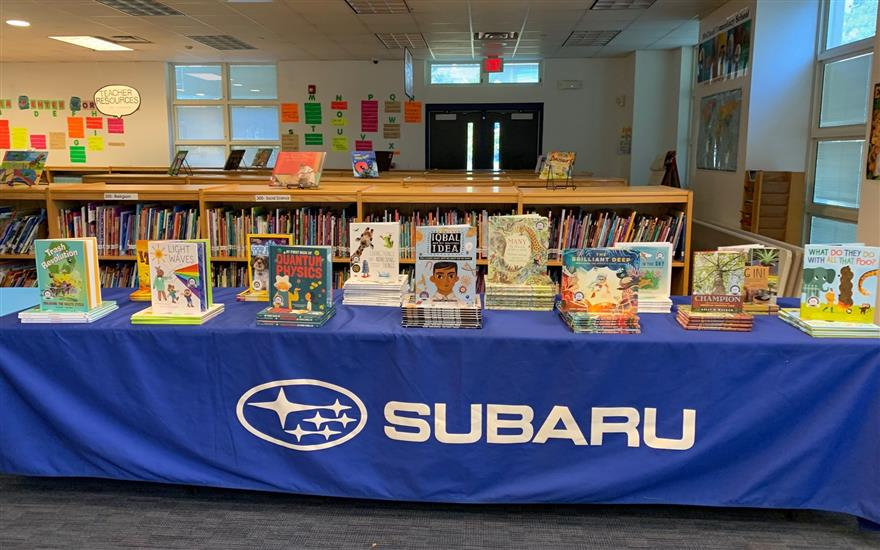 Subaru of Englewood Book Donation
