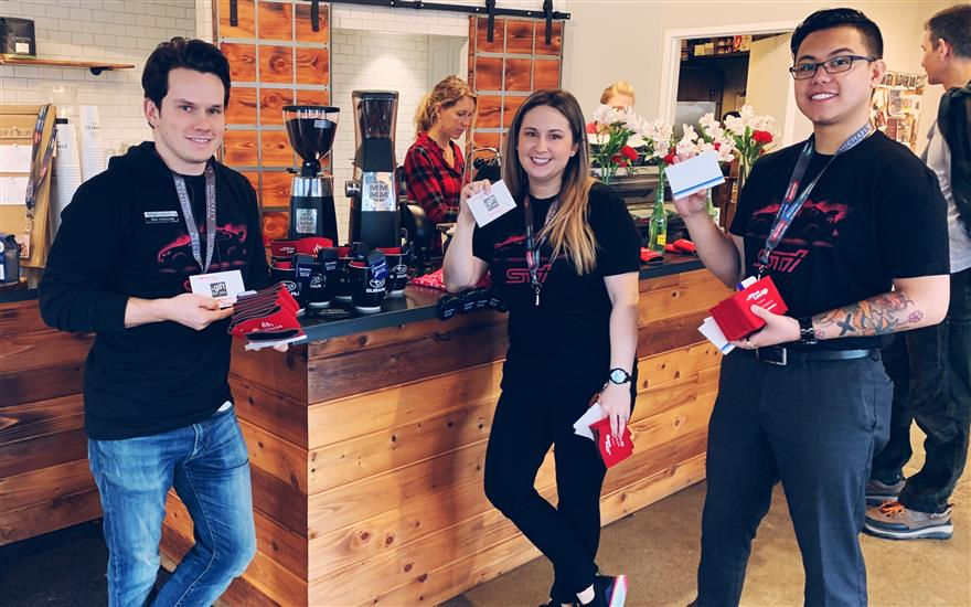 Sharing Love on Valentine's Day at Cypress Coffee