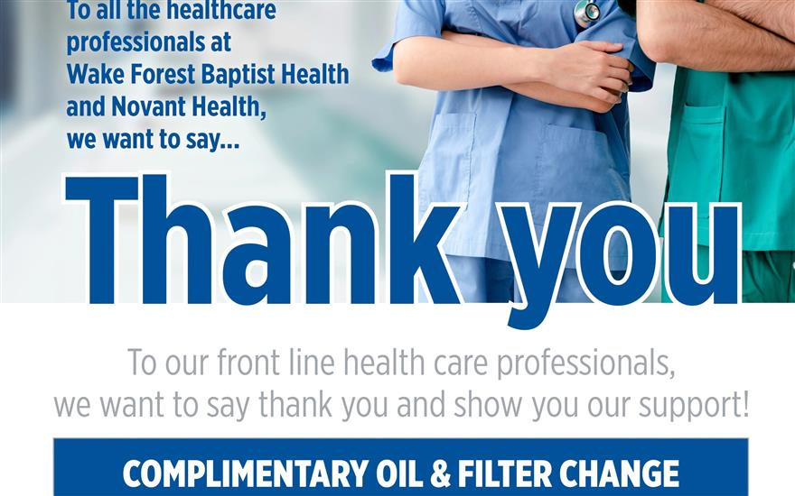 Flow Thank you to front line Health care workers