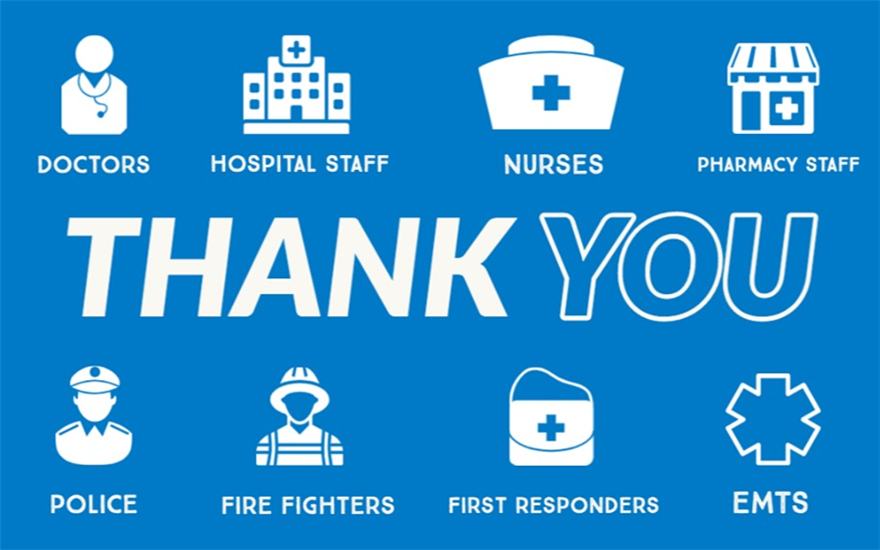 We Love our Healthcare Workers & First Responders