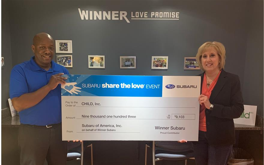 Winner Subaru Donation to Child INC.