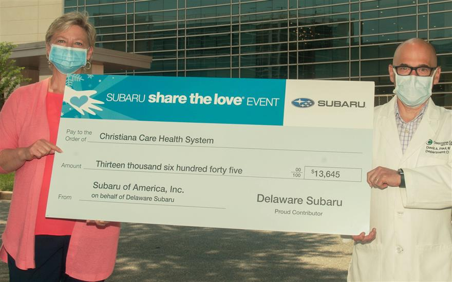 Delaware Subaru Contribution to Women & Children
