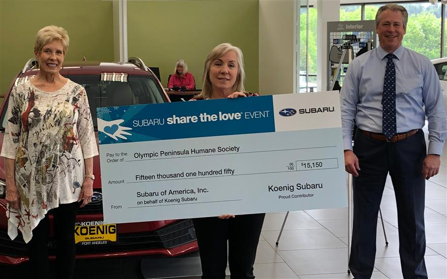 OPHS Receives $15,150 of Subaru Love