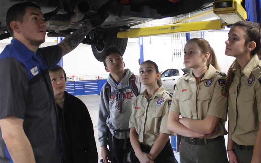 McCurley's and Scouts Do Automotive Maintenance