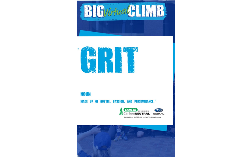 Carter Steps up to Supports the Big Virtual Climb