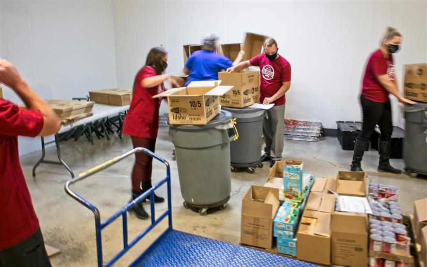 Employees Volunteer at the Local Foodbank