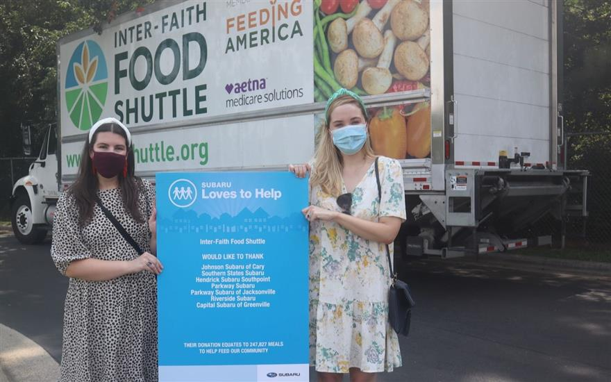 Subaru Supports Inter-Faith Food Shuttle