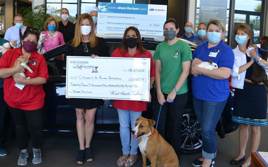 West Houston's Share the Love Check Presentation