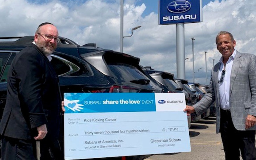 Glassman Subaru Shares the Love
