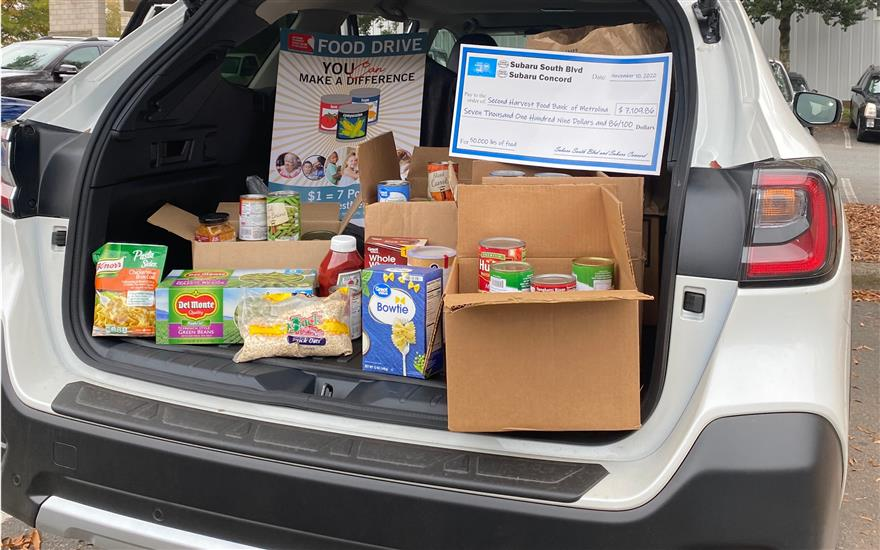 50,000 lbs of Food to Local Food Bank