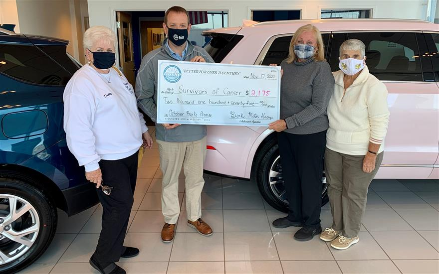 Burke Donates to SOCs for Breast Cancer Awareness