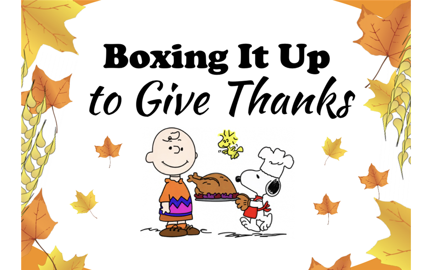 Boxing It Up to Give Thanks