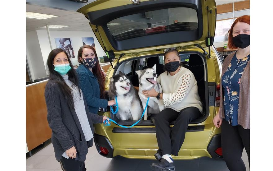 Morrie's Subaru Shares the Love with Pause 4 Paws