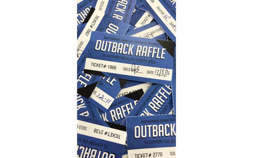 Outback Raffle to Benefit the Allen County SPCA!