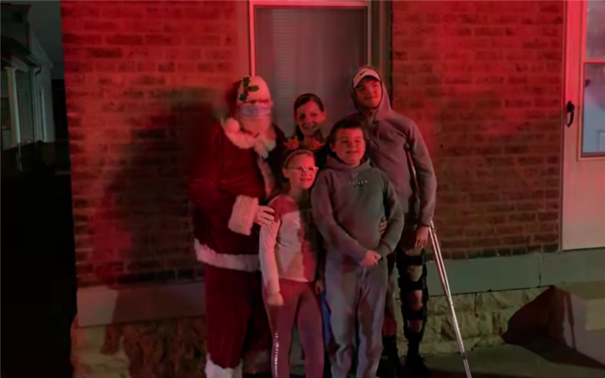 Newport KY Firefighters brighten local Christmas