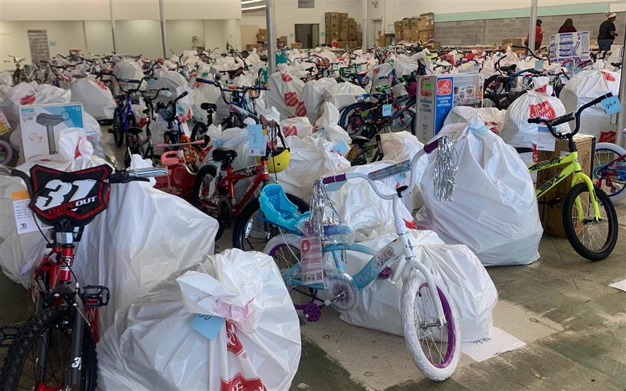 Salvation Army Angel Tree Bike Drive